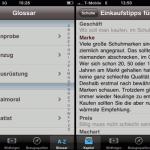 iGentleman App - Detailansicht Glossar